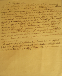 , - Lord Redesdale's Opinion. Document, one page, seventeen lines, discussing whether the dignity of the Earl of Westmoreland, created in 1397 during the reign of Richard II, is forfeited by a descendant convicted of high treason and outlawed
