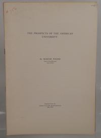 POUND, ROSCOE - The Prospects of the American University. Setaro 756