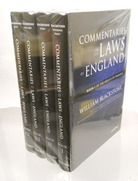 BLACKSTONE, WILLIAM - Commentaries on the Laws of England. Four Volumes [complete]